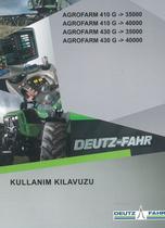 AGROFARM 410 G ->35000 - AGROFARM 410 G ->40000 - AGROFARM 430 G ->35000 - AGROFARM 430 G ->40000 - Kullanim kilavuzu