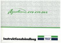AGROTRON 210-235-265 - Bruger-og vedligeholdelsesvejledning