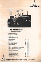 D 16006 - Teilnummernliste / Part No. list / Liste de Nos de pièces / Lista de Nos. de pieza