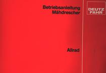 MÄHDRESCHER ALLRAD - Betriebsanleitung