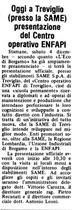 Oggi a Treviglio (presso la SAME) presentazione del Centro operativo ENFAPI