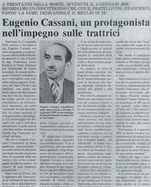 Eugenio Cassani, un protagonista nell'impegno sulle trattrici.