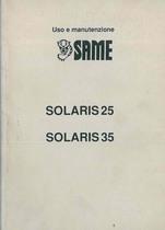 SOLARIS 25 - 35 - Libretto Uso & Manutenzione