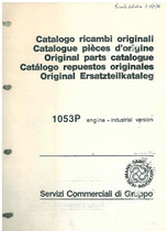 MOTORE 1053 P - Catalogo Parti di Ricambio / Catalogue de pièces de rechange / Spare parts catalogue / Ersatzteilliste / Lista de repuestos