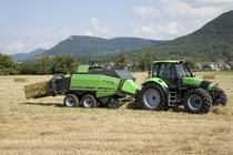 [Deutz-Fahr] trattore Agrotron 180.7 con rotopressa e Agrovector
