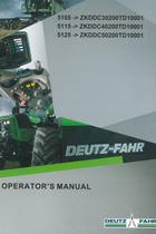 5105 ->ZKDDC30200TD10001 - 5115 ->ZKDDC40200TD10001 - 5125 ->ZKDDC50200TD10001 - Operator's manual