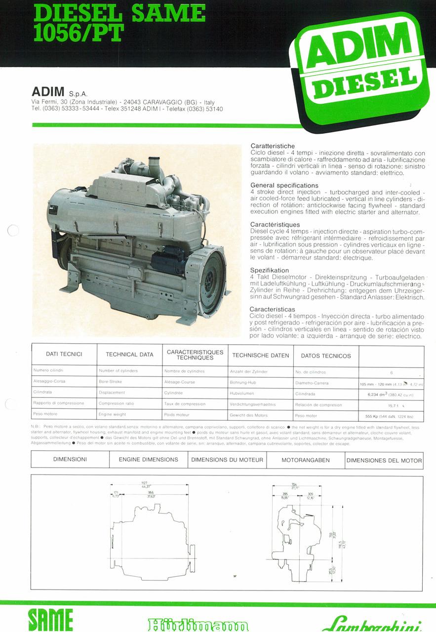 Motore 1056/PT