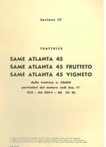 Sez. 15 - ATLANTA 45-ATLANTA 45 FRUTTETO-ATLANTA 45 VIGNETO - Catalogo Parti di Ricambio / Catalogue de pièces de rechange / Spare parts catalogue / Ersatzteilliste / Lista de repuestos