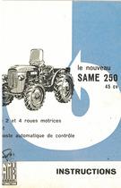 LE NOUVEAU SAME 250 45 CV - Instructions