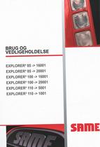 EXPLORER³ 85 -> 16001 - EXPLORER³ 85 - 20001 - EXPLORER³ 100 -> 16001 - EXPLORER³ 100 - 20001 - EXPLORER³ 110 -> 5001 - EXPLORER³ 110 -> 1001 - Brug og vedligeholdelse