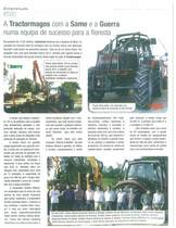 A tractormagos com a SAME e a GUERRA numa equipa de sucesso para a floresta