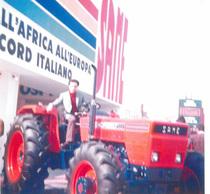 Visita del signor Giancarlo Pezzali allo Stand SAME della Fiera di Verona