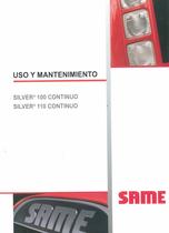 SILVER³ 100 CONTINUO - SILVER³ 110 CONTINUO - Uso y mantenimiento