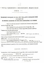 Atto di omologazione della trattrice SAME Minitauro 50 DT