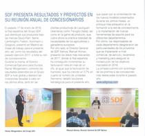 SDF presenta resultados y proyectos en su reunion anual de concesionarios