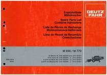 M 660-M770 - Ersatzteilliste / Liste de Pièces de Rechange / Spare Parts List / Elenco dei Pezzi di Ricambio / Lista de Piezas de Recambio