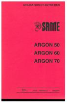 ARGON 50-60-70 - Utilisation et entretien