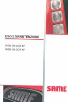 IRON 140 DCR 4V - IRON 160 DCR 4V - Uso e manutenzione