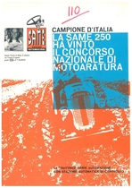Campione D'Italia La Same 250 ha vinto il Concorso Nazionale di Motoratura