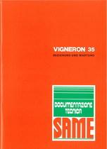 VIGNERON 35 - Bedienung und instandhalthung