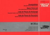 M 35.80 - Erstatzteilliste Allradantrieb für Mähdrescher ab Masch. Nr. 6115-0101 / Spare parts list four-wheel drive for combine harvesters from Mach. Nr. 6115-0101 / Liste de pièces de rechange execution toutes roues motrices pour moissonneuses-batteuses à partir de Mach. No. 6115-0101 / Lista de piezas de recambio version de traccion universal para cosechadoras a partir de Maquina No. 6115-0101
