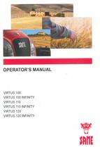 VIRTUS 100 - VIRTUS 100 INFINITY - VIRTUS 110 - VIRTUS 110 INFINITY - VIRTUS 120 - VIRTUS 120 INFINITY - Operator's manual