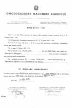 Atto di omologazione della trattrice SAME Buffalo DT e Buffalo DT/1