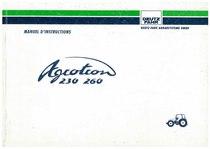 AGROTRON 230-260 - Utilisation et Entretien