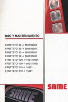 FRUTTETO³ 80 ->1001/10001 - FRUTTETO³ 80 ->5001/15001 - FRUTTETO³ 90 ->1001/10001 - FRUTTETO³ 90 ->5001/15001 - FRUTTETO³ 100 ->1001/10001 - FRUTTETO³ 100 ->5001/15001 - FRUTTETO³ 110 ->10001 - FRUTTETO³ 110 ->15001 - Uso y mantenimiento