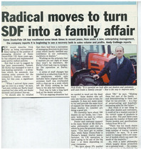 Radical moves to turn SDF into a family affair