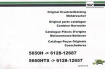 5650H ->6128-12687 - 5660 HTS ->6128-12657 - Ersatzteilkatalog / Parts catalogue / Catalogue pièces d'origine / Catalogo peças originais