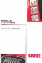 FRUTTETO³ 80.4 NATURAL - Manuel de l'utilisateur