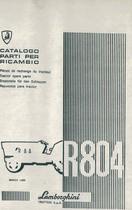 R 804 - Catalogo Parti di Ricambio / Pièces de Rechange du Tracteur / Tractor Spare Parts / Ersatzteile für den Schleppers / Repuestos para Tractor