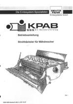 Strohhäcksler für DEUTZ-FAHR Mähdrescher - Betriebsanleitung