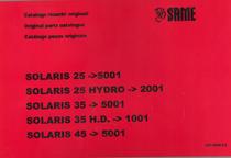 SOLARIS 25 ->5001 - SOLARIS 25 HYDRO ->2001 - SOLARIS 35 ->5001 - SOLARIS 35 H.D. ->1001 - SOLARIS 45 ->5001 - Catalogo ricambi originali / Original parts catalogue / Catalogo peças originais