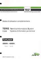 TERIS V 2.23 Terminal Informations System - TOPLINER 4060 H - 4090 H - Notice d'utilisation complémentaire