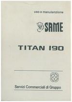 TITAN 190 - Libretto uso & manutenzione
