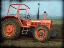 Trattore SAME Centurion 75 Special prove in campo con aratro e erpice