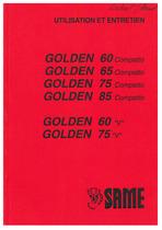 GOLDEN 60-65-75-85-60V-75V - Utilisation et entretien