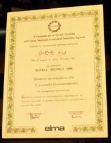 Riconoscimento di Novità Tecnica 1990 - Trattrice con controllo su video di parametri funzionali operativi