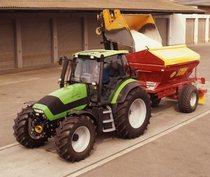 [Deutz-Fahr] trattore Agrotron 130 con rimorchio per concime