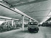 Stabilimento Same - Linea di montaggio Samecar, in primo piano un Samecar SuperElefante TSW 4x4