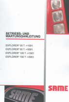EXPLORER³ 85 T ->1001 - EXPLORER³ 85 T ->5001 - EXPLORER³ 100 T ->1001 - EXPLORER³ 100 T ->5001 - Betriebs - und Wartungsanleitung