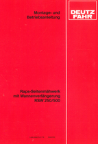 Raps-Seitenmähwerk mit Wannenverlängerung RSW 250/500 - Montage - und Betriebsanleitung