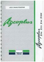 AGROPLUS S 70-75-90-100 - Libretto Uso & Manutenzione