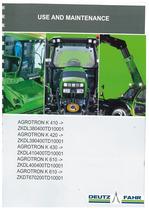 AGROTRON K 410-420-430-610 - Use and Maintenance