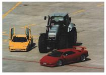 Trattori e automobili Lamborghini: in mostra e in prova