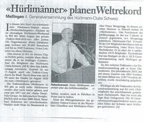 """""""Hurlimanner"""" planen Weltrekord"""