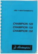 CHAMPION 120-135-150 - Uso y Manteniminento