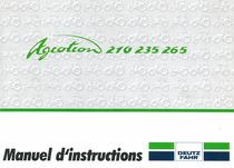 AGROTRON 210-235-265 - Manuel d'instructions